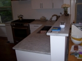 Bianco Cararra marble top