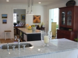 Bianco cararra marble counter top